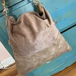 Suede Neiman Marcus Tote Bag